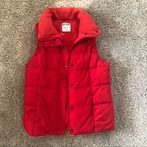 EUC old navy red xs puffer vest